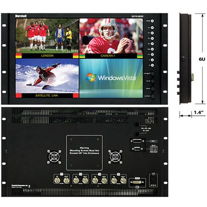Picture of QV-171X-HDSDI 17' Native HD Resolution LCD Rack Mount Monitor with built in Quad Splitter