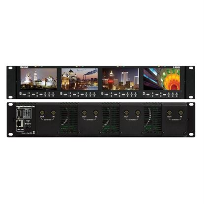 Picture of V-MD434-3GSDI Four 4.3' Wide Screen Rack Unit with 4 x 3GSDI input modules installed
