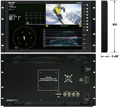 Picture of V-R171X-DLW 17' Native HD Resolution IMD LCD Rack Mount Monitor with Waveform & Vectorscope Displays