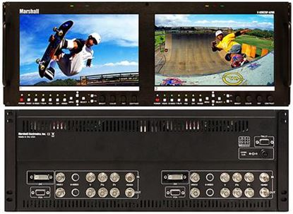 Picture of V-R902DP-AFHD Dual 9' Wide Screen High Resolution HD/SD monitor set with Advanced Features
