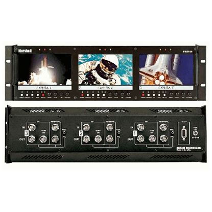 """Picture of V-R63P-SDI Triple 5.8"""" Rack Mounted LCD Panel with 10-bit SDI Input"""
