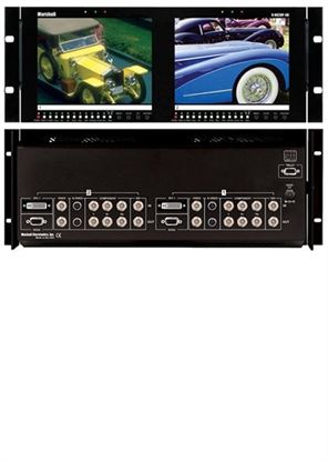 Picture of V-R82DP-SD Dual 8.4' LCD Rack Mount Panel all inputs with SDI