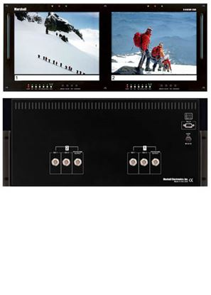 Picture of V-R102DP-2SDI Dual 10.4' LCD Rack Mount Panel with 2 SDI Inputs per panel
