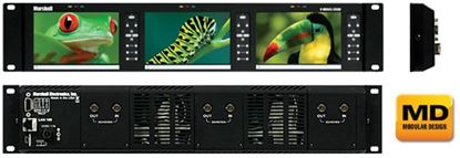 """Picture of V-MD503-3GSDI Triple 5"""" Rack Unit with 3 x 3GSDI input modules installed"""