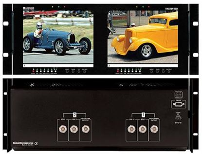 Picture of V-R82DP-2SDI Dual 8.4' LCD Rack Mount Panel with 2 SDI Inputs per panel