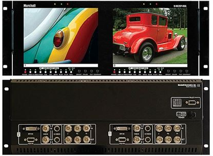 Picture of V-R82DP-HDA Dual 8.4' LCD Rack Mount Panel with HDA + DVI inputs