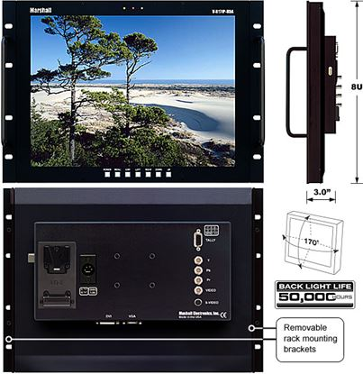 Picture of V-R171P-HDA 17' LCD Rack Mount Panel with HDA inputs